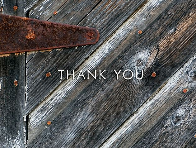Picture of A Rustic Thanks