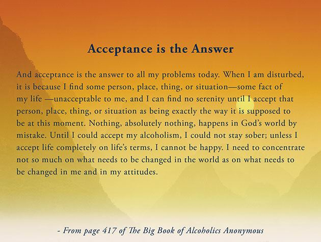 Picture of Acceptance is the Answer