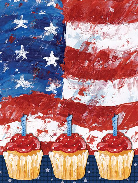 Picture of Flag and Cupcakes